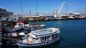 码头区街道在江边地区在开普敦,南非 免版税库存图片