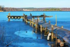 码头在冬天 免版税库存照片