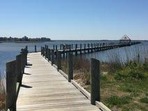 码头在北边公园 免版税库存照片