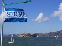 码头39在旧金山,加利福尼亚 库存照片