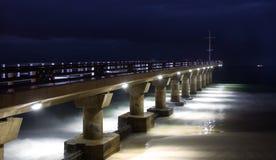 码头在晚上 库存照片
