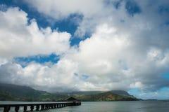 码头在海洋 库存图片