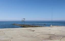 码头在索契 库存图片