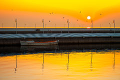 码头在索波特,波兰 库存照片