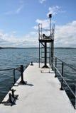 码头在黑海 库存照片