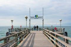 码头在Graal-Mueritz 免版税图库摄影