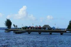 码头在Moorea海岛 库存图片