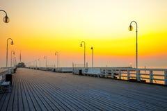 码头在Sopot 免版税库存图片