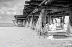 码头在Sopot 免版税库存照片