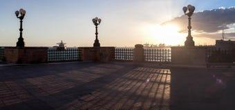 码头-塔兰托,意大利 库存照片