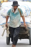 码头工人印度尼西亚雅加达kelapa端口sunda 免版税图库摄影