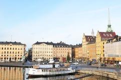 码头斯德哥尔摩 免版税库存图片