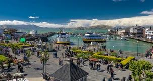 码头39是其中一个旧金山turist地标  股票录像