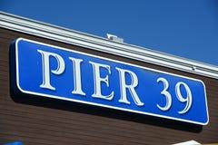 码头39标志,旧金山,加利福尼亚 免版税图库摄影
