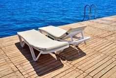 码头海滩旅馆。 库存照片