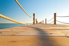 码头热带木 库存图片