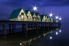 码头的假日房子 免版税图库摄影