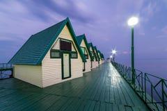 码头的假日房子 图库摄影