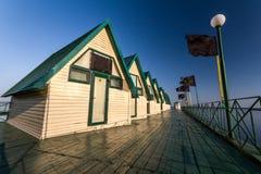 码头的假日房子 库存照片