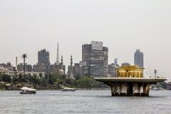 码头的房子在河尼罗在开罗 埃及 库存图片