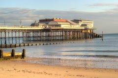 码头的末端在cromer,联合王国的。 免版税库存照片