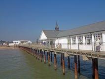 码头的视图 库存照片
