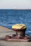 码头系船柱 库存图片