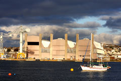 码头著名巨大的普利茅斯英国 免版税库存照片
