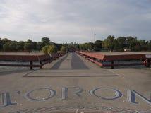 码头,中心海岛,多伦多站点  图库摄影