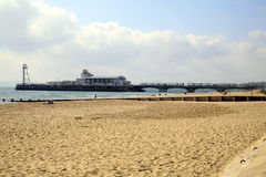 码头,伯恩茅斯,多西特 库存照片