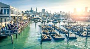 码头39,旧金山 库存照片