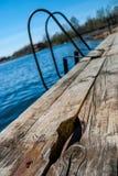 码头,湖 库存照片