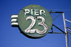 码头23 库存照片