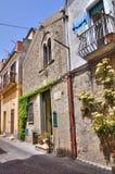 码头delle Vigne房子。梅尔菲。巴斯利卡塔。意大利。 免版税库存照片