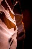 砂岩侵蚀在更低的羚羊峡谷晃动 亚利桑那,美国 免版税库存照片