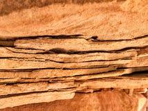 砂岩分层堆积特写镜头五颜六色的背景摘要 库存照片