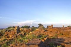 砂岩和城堡在科罗纳多高度 库存图片