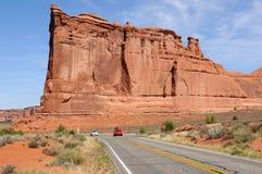 砂岩城堡-塔巴比伦 库存照片