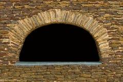 砂岩墙壁曲拱 免版税库存照片