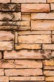 砂岩墙壁表面 库存图片