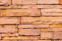 砂岩墙壁表面 免版税库存照片