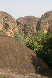 砂岩山在加纳 库存照片