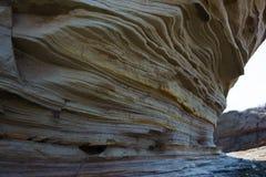 砂岩山的美丽的景色 库存图片