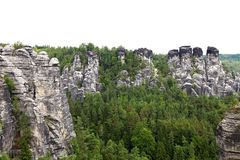 砂岩岩石 免版税库存图片