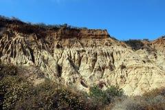 砂岩峭壁 库存图片