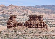 砂岩形成在拱门国家公园#4 图库摄影