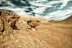 砂岩形成在Timna公园,以色列 库存照片