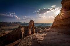 砂岩曲拱和自然结构 免版税图库摄影