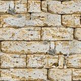 砂岩无缝的砖墙。 免版税图库摄影