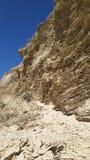 砂岩沉积层状峭壁 图库摄影
